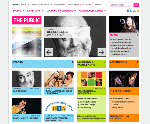 The Public — Homepage